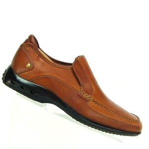 Cole Haan Mens Brown Leather Slip On Dress Shoes.